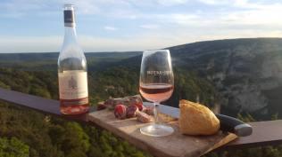 Rosé dans les gorges de l'Ardèche